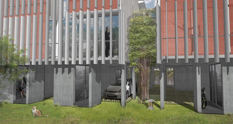 parking / garden level 0