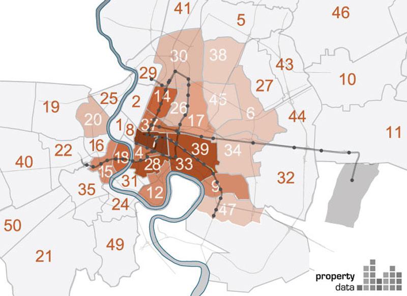 property heatmap Bangkok